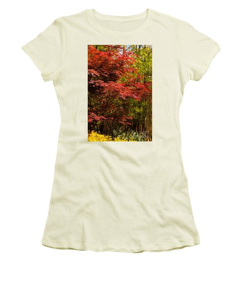 Flame In The Backyard Women's T-Shirt (Athletic Fit)