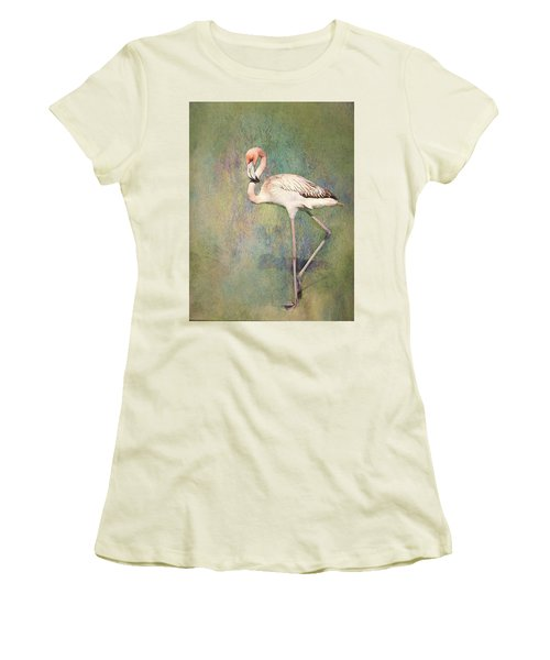 Flamingo Dancing Women's T-Shirt (Athletic Fit)