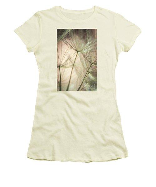 Flamingo Dandelions Women's T-Shirt (Junior Cut) by Iris Greenwell