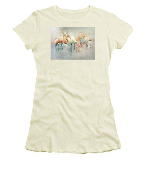 Flamingo Fantasy Women's T-Shirt (Athletic Fit)