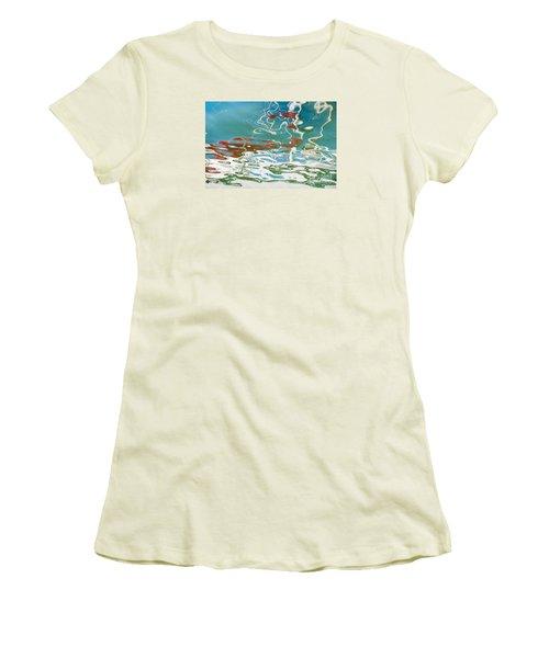Floating On Blue 35 Women's T-Shirt (Junior Cut) by Wendy Wilton