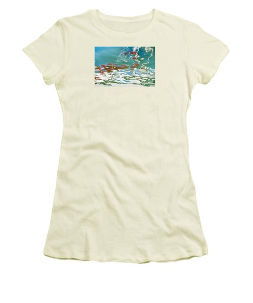 Floating On Blue 35 Women's T-Shirt (Athletic Fit)