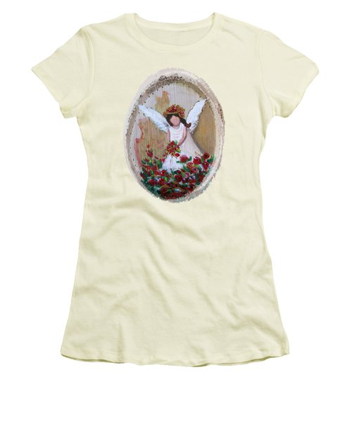 Flower Angel Women's T-Shirt (Athletic Fit)