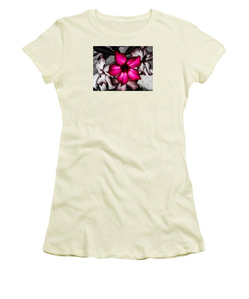 Women's T-Shirt (Junior Cut) featuring the photograph Flower Dreams by Randy Sylvia