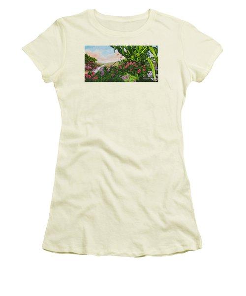 Flower Garden Vii Women's T-Shirt (Athletic Fit)
