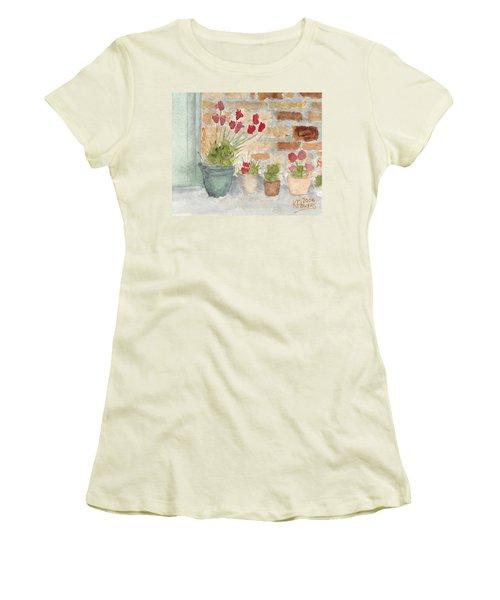 Flower Pots Women's T-Shirt (Athletic Fit)