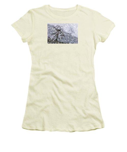 Flower Shower Women's T-Shirt (Junior Cut) by Ed Hall