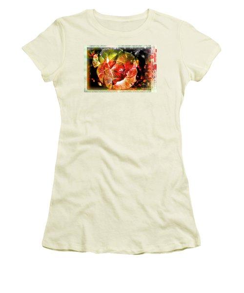 Flower Vector Women's T-Shirt (Athletic Fit)