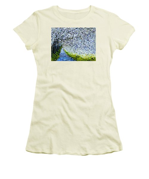 Flowering Tree Lane Women's T-Shirt (Athletic Fit)