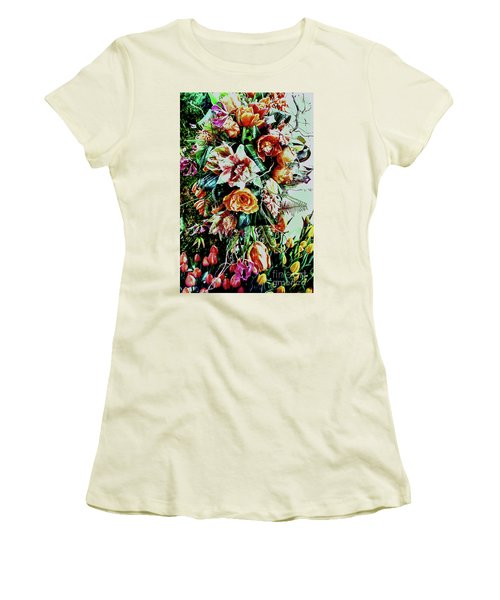 Flowing Bouquet Women's T-Shirt (Athletic Fit)