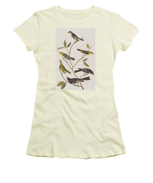Fly Catchers Women's T-Shirt (Junior Cut) by John James Audubon
