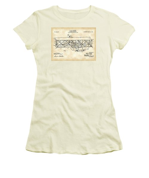 Flying Machine Patent 1903 - Vintage Women's T-Shirt (Athletic Fit)