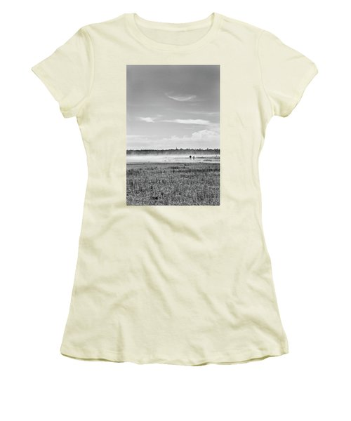 Foggy Day On A Marsh Women's T-Shirt (Athletic Fit)