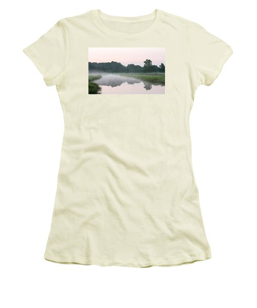Foggy Morning Reflections Women's T-Shirt (Athletic Fit)