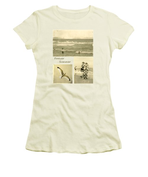 Women's T-Shirt (Junior Cut) featuring the photograph Forever Summer 3 by Linda Lees