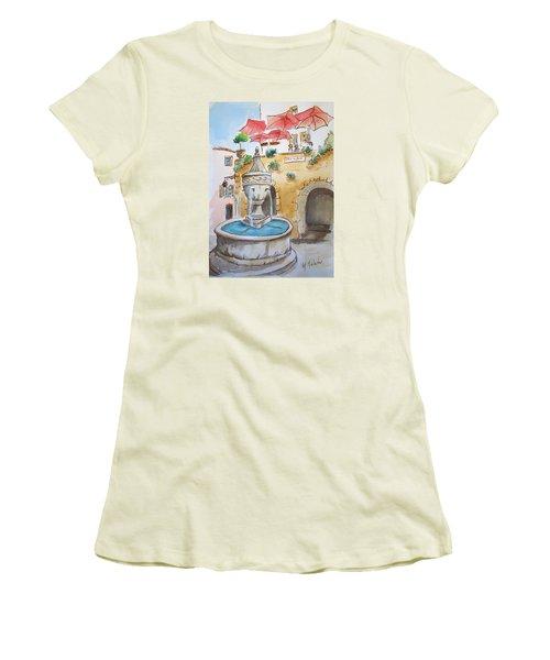 Fountain At St Paul De Vence Women's T-Shirt (Junior Cut) by Marilyn Zalatan