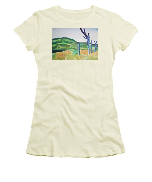 Four Dead Trees After Edward Hopper Women's T-Shirt (Athletic Fit)