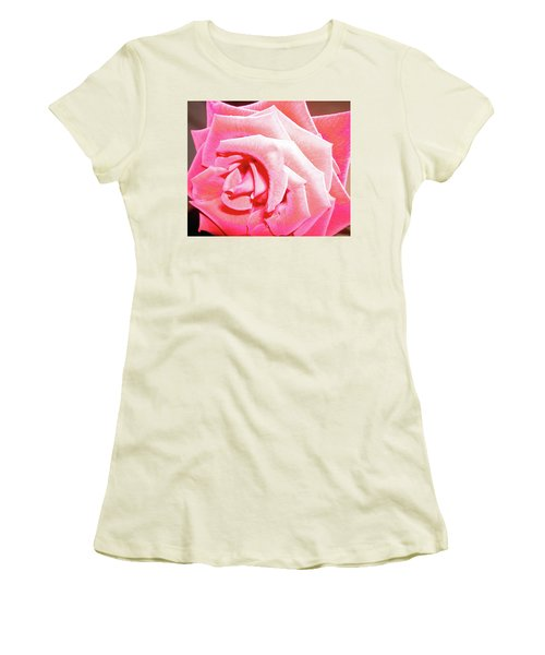 Women's T-Shirt (Junior Cut) featuring the photograph Fragrant Rose by Marie Hicks