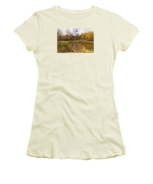 Women's T-Shirt (Junior Cut) featuring the photograph Franconia Iron Works by Anthony Baatz