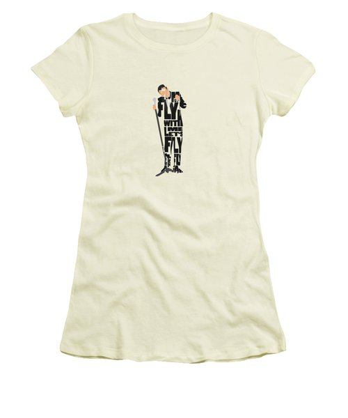 Frank Sinatra Typography Art Women's T-Shirt (Athletic Fit)