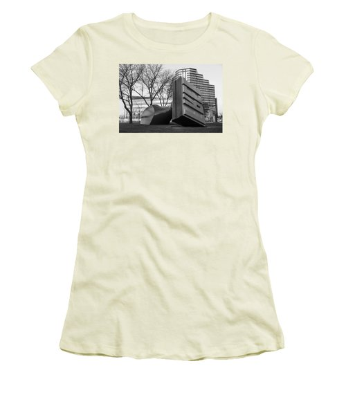 Free Stamp In Cleveland In Black And White  Women's T-Shirt (Junior Cut) by John McGraw