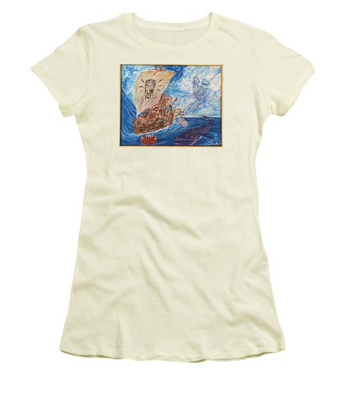 Friggin In The Riggin - Kon Tiki Expedition Women's T-Shirt (Athletic Fit)