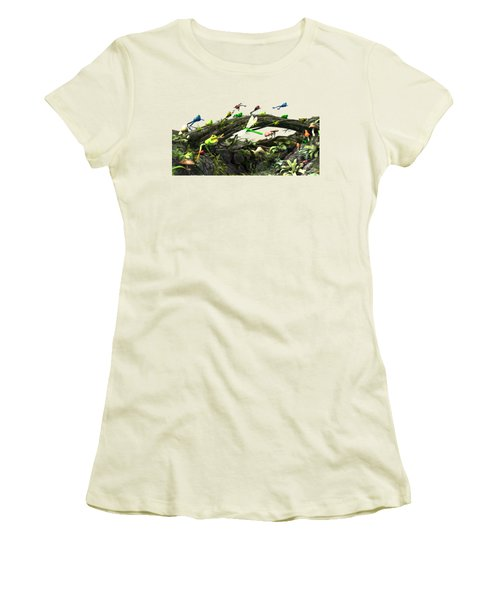 Frog Glen Women's T-Shirt (Junior Cut) by Methune Hively