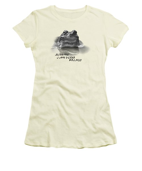 Women's T-Shirt (Junior Cut) featuring the photograph Frog The Prince by Jivko Nakev