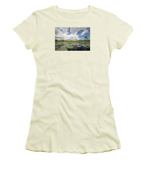From A Frog's Point Of View - Lake Okeechobee Women's T-Shirt (Junior Cut) by Christopher L Thomley