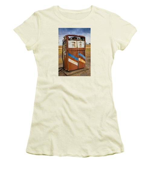 Women's T-Shirt (Junior Cut) featuring the photograph Fuel Pump by Keith Hawley