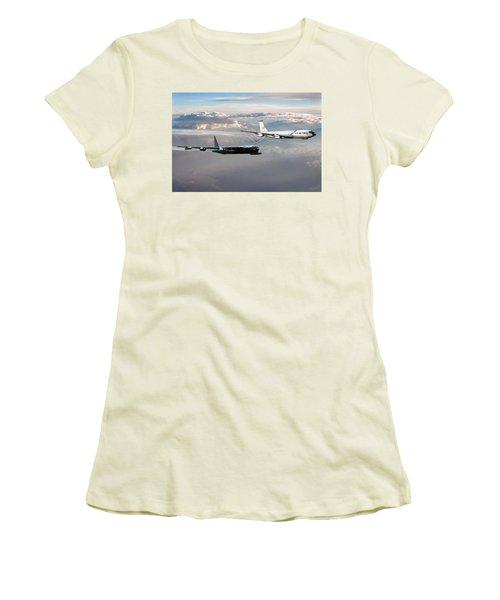 Women's T-Shirt (Junior Cut) featuring the digital art Full Service by Peter Chilelli