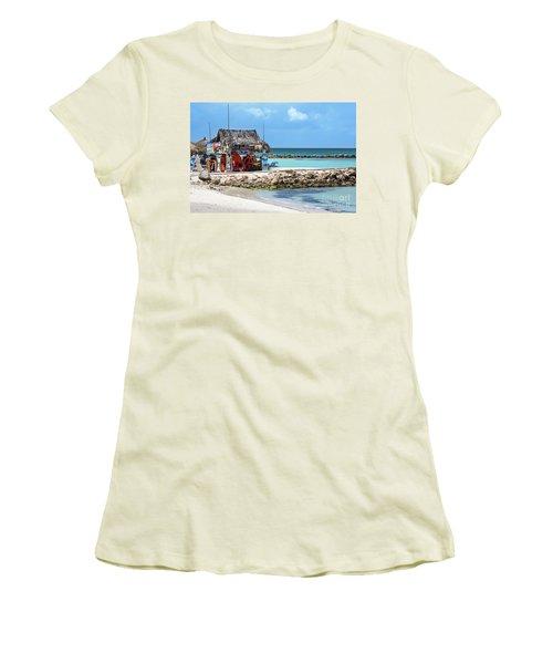 Fun In The Sun Women's T-Shirt (Junior Cut) by Judy Wolinsky
