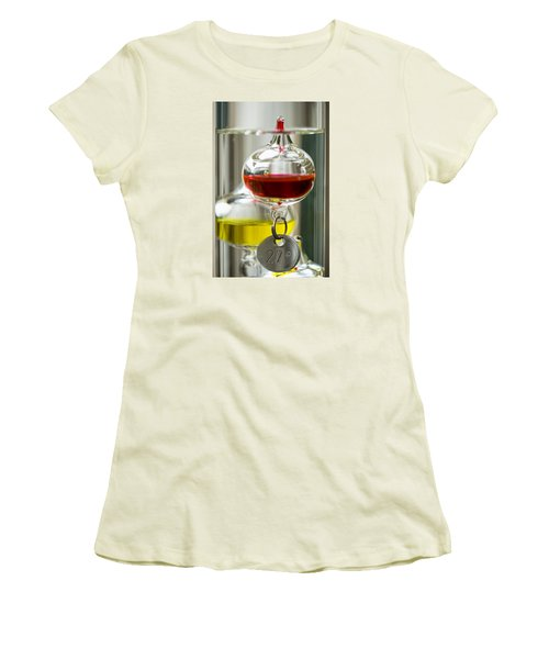 Women's T-Shirt (Junior Cut) featuring the photograph Galileo Thermometer by Jeremy Lavender Photography