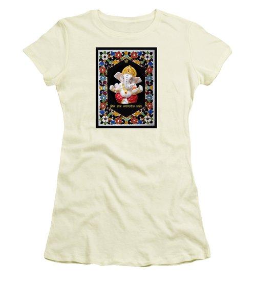 Ganesha Frame Women's T-Shirt (Athletic Fit)