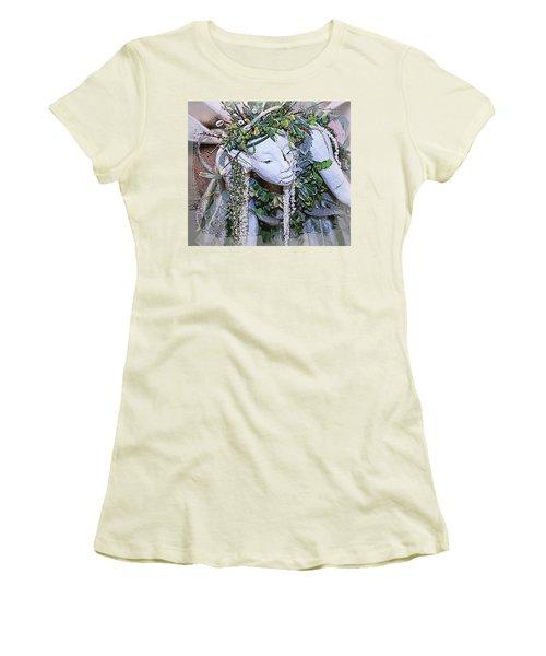 Garden Fairy Women's T-Shirt (Junior Cut) by Patrice Zinck