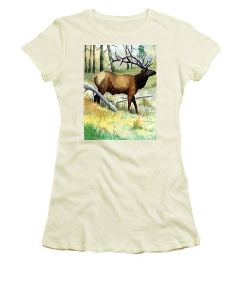 Gash Flats Bull Women's T-Shirt (Junior Cut) by Jimmy Smith