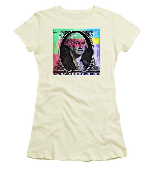 George Washington Pop Art Women's T-Shirt (Athletic Fit)