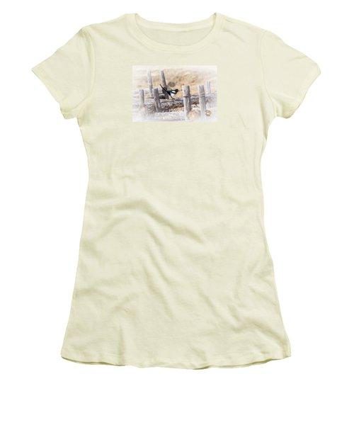 Women's T-Shirt (Junior Cut) featuring the photograph Gettin Jiggy Widit by Daniel Hebard