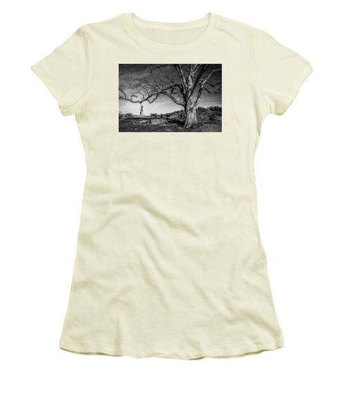 Gettysburg Below Little Round Top Women's T-Shirt (Athletic Fit)