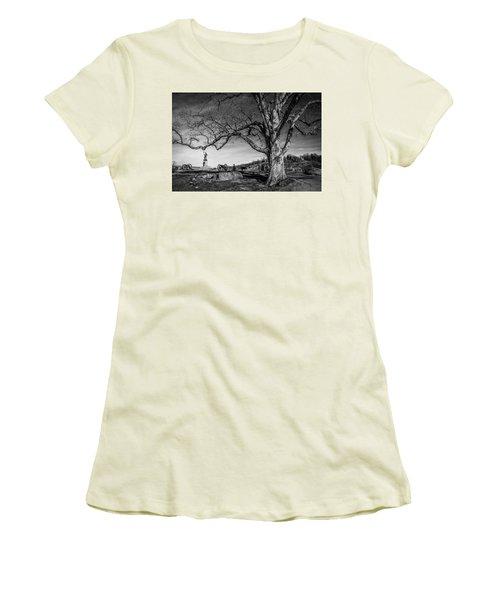 Gettysburg Below Little Round Top Women's T-Shirt (Athletic Fit)