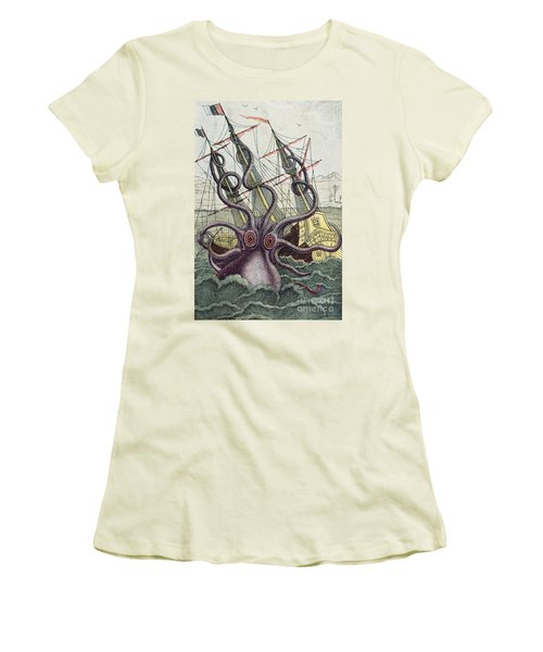 Giant Octopus Women's T-Shirt (Athletic Fit)