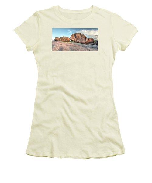 Giant Potatoes Women's T-Shirt (Junior Cut) by Harold Rau