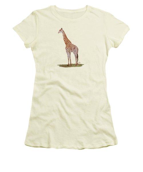 Giraffe Women's T-Shirt (Junior Cut) by Angeles M Pomata