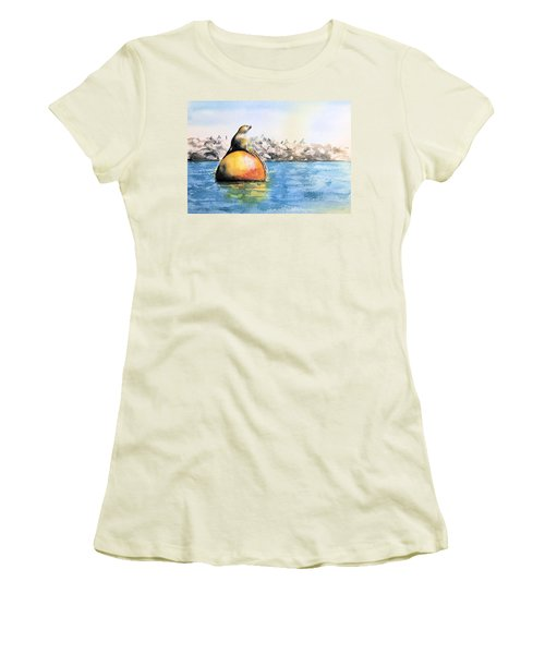 Girl And Buoy Women's T-Shirt (Athletic Fit)