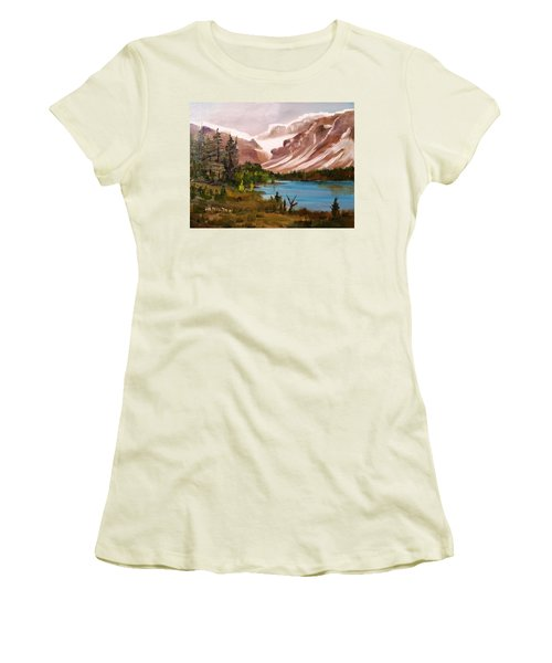 Glacier Lake Women's T-Shirt (Junior Cut) by Larry Hamilton