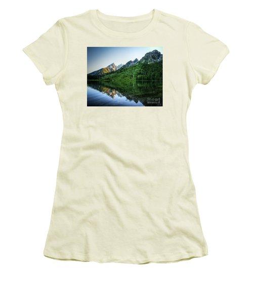 Glacier Lake Women's T-Shirt (Junior Cut) by Rebecca Hiatt