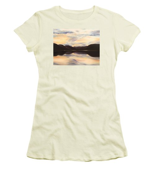 Women's T-Shirt (Athletic Fit) featuring the painting Glencoe by Elizabeth Lock