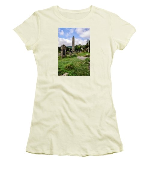 Glendalough Tower Ireland Women's T-Shirt (Athletic Fit)