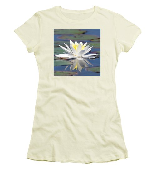 Glorious White Water Lily Women's T-Shirt (Athletic Fit)