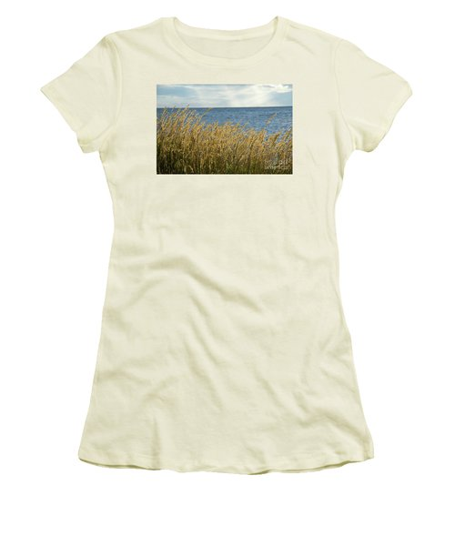 Glowing Grass By The Coast Women's T-Shirt (Athletic Fit)